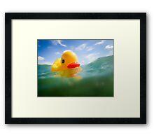 Swimming Rubber Ducky Framed Print