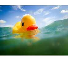 Swimming Rubber Ducky Photographic Print