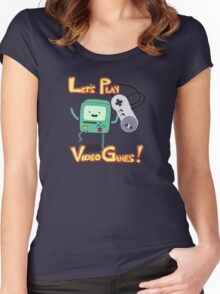 BMO - Let's Play Video Games! Women's Fitted Scoop T-Shirt
