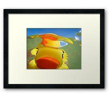 Rubber Duckie Snorkeling Framed Print