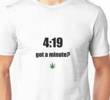 4:19 (black) Unisex T-Shirt