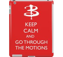 Go through the motions iPad Case/Skin