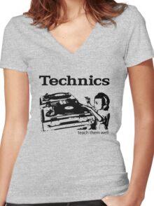 technics 2 Women's Fitted V-Neck T-Shirt