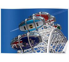 The London Eye and Jet Aircraft Poster