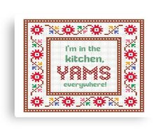 2 Chainz in the kitchen yams everywhere (birthday song) Canvas Print