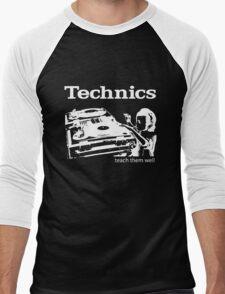 technics 3 Men's Baseball ¾ T-Shirt