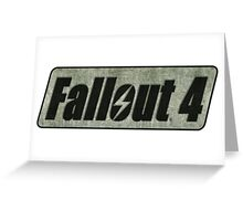 Fallout 4 logo Greeting Card