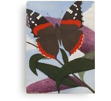 Butterfly on Buddleia Canvas Print