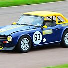 Triumph TR6 No 63 by Willie Jackson
