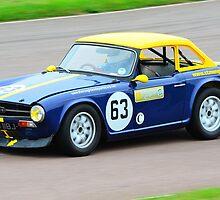 Triumph TR6 No 63 by Willie Jackson