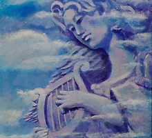 Angel with Lyre by Ed Bohon