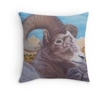 Ram Bust Throw Pillow