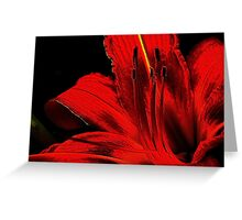 Red ! Greeting Card