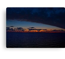 The Sky Meets the Night Canvas Print