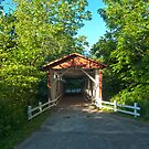 Everett Road Covered Bridge in Cuyahoga Valley National Park by John Hartung