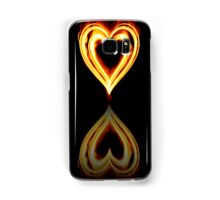 Flaming Heart on Fire with Reflection Samsung Galaxy Case/Skin