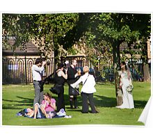 Photographer at work on Glasgow Green. Poster