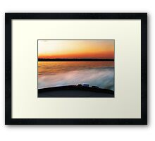 """Racing to the """"Spot""""  Framed Print"""