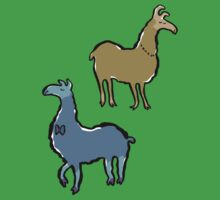 llamas with an attitude Kids Clothes