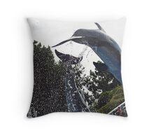 Leap Dolphin Throw Pillow