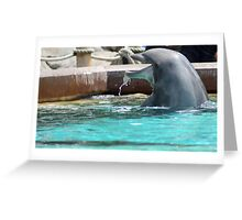 I'm so hungry! Look at the drool! Feed me! Greeting Card