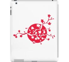 Japan flag and cherry blossom iPad Case/Skin