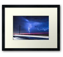 Right Out Of The Power Lines Framed Print