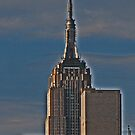 Empire State building and contrasting structures by michael6076
