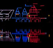 Pennsylvania. Philadelphia. Boathouse Row on Independence day. by vadim19