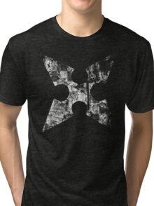 Kingdom Hearts Roxas' Cross grunge Tri-blend T-Shirt