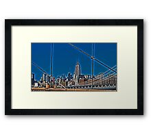 Empire State Building from the Brooklyn Bridge Framed Print