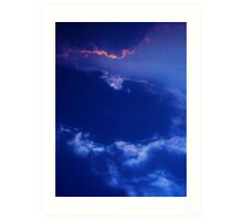 cloudscape ~ a blink of pink  Art Print