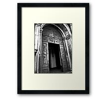 Entrance to the Cathedral of St Catherine of Alexandria Framed Print