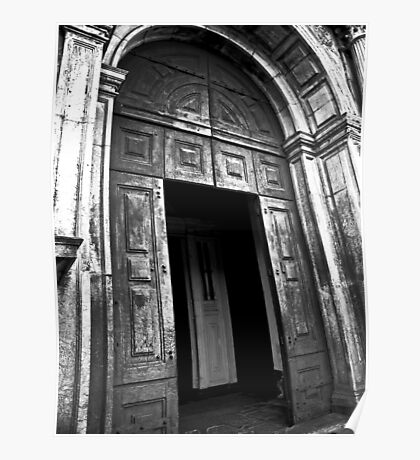 Entrance to the Cathedral of St Catherine of Alexandria Poster
