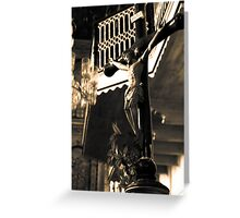 Inside the Cathedral of St Catherine of Alexandria Greeting Card