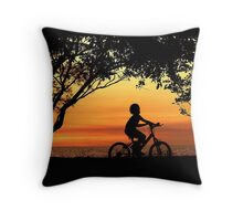 Ride for Life Throw Pillow