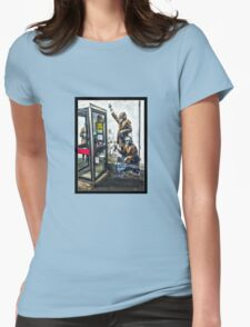 Government listening post by Banksy! Womens Fitted T-Shirt