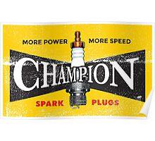 Vintage Spark Plug Poster