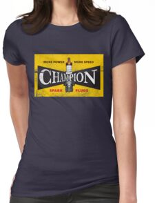 Vintage Spark Plug Womens Fitted T-Shirt