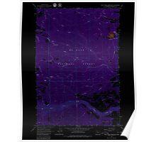 USGS Topo Map Oregon Rock Creek Reservoir 281294 1962 24000 Inverted Poster