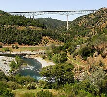 Foresthill Bridge - North Fork American River, Placer County, CA by Rebel Kreklow