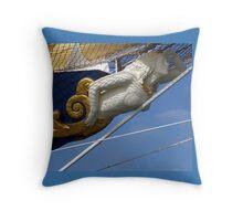 Royal Clipper figurehead  Throw Pillow