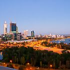 Perth  Western Australia at dusk by Loredana  Smith