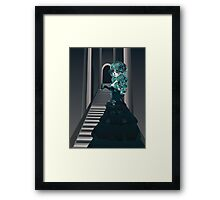 Day of the Dead Girl in Crypt Framed Print