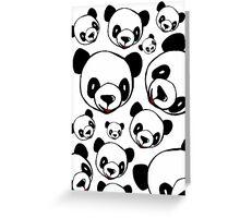 Panda Pattern Greeting Card