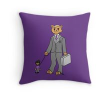 Business Cat Throw Pillow