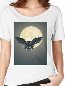 Owl and Full Moon Women's Relaxed Fit T-Shirt