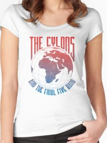 The Cylons and The Final Five Band Women's Fitted Scoop T-Shirt