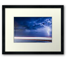 Lightning Spiral In The Night Framed Print