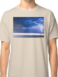 Lightning Spiral In The Night Classic T-Shirt